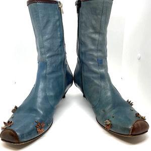 Miss Sixty Vintage Kitten Heel Powder Blue Leather
